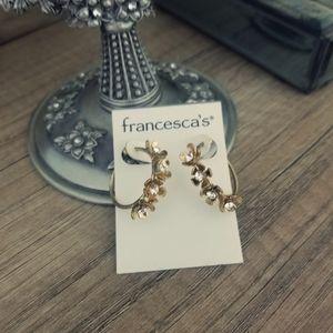 Flower hoop earrings Francesca's